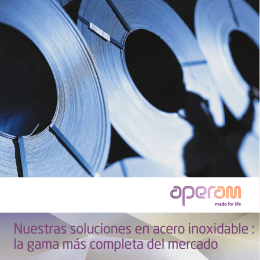 Acero inoxidable Aperam Gama Productos