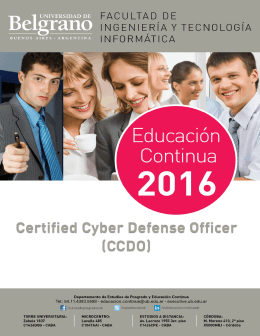 Certified Cyber Defense Officer (CCDO)