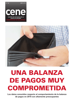 cene UNA BALANZA DE PAGOS MUY COMPROMETIDA