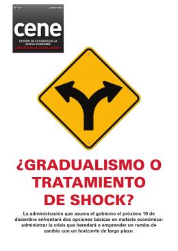 cene ¿GRADUALISMO O TRATAMIENTO DE SHOCK?
