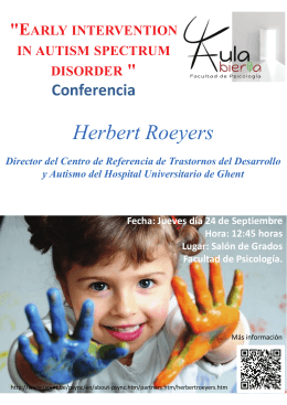 "Herbert Roeyers ""E "" Conferencia"