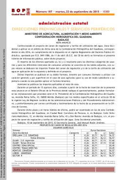B O P  administración estatal DIRECCIONES PROVINCIALES Y SERVICIOS PERIFÉRICOS