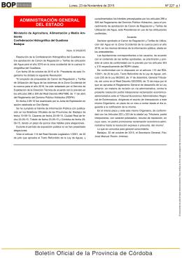 ADMINISTRACIÓN GENERAL Lunes, 23 de Noviembre de 2015 Nº 227  p.1