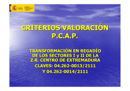 criterios transformacion regadio