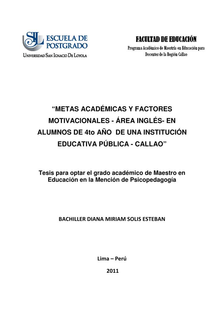 2011 Solís Metas Académicas Y Factores Motivacionales Area