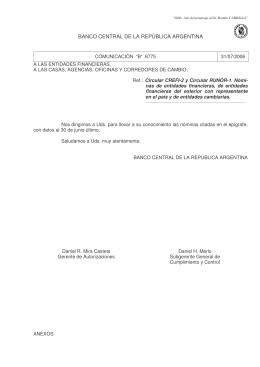 [b]COMUNICACION B 8775. 31/7/2006.