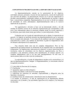 CONCEPTOS FUNDAMENTALES DE LA DEPARTAMENTALIZACION