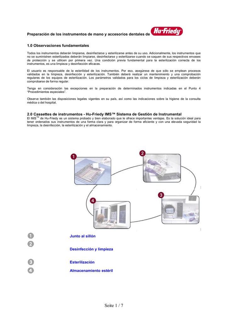 c774683f0 Preparación de los instrumentos de mano y accesorios dentales de