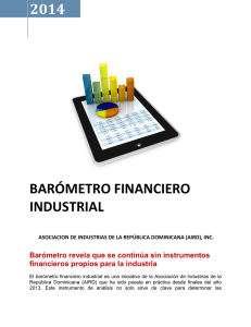 2014 BARÓMETRO FINANCIERO INDUSTRIAL