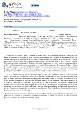 Tornados Portal Alipso.com:  Apuntes y Monografías
