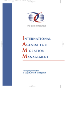 International Agenda for Migration Management