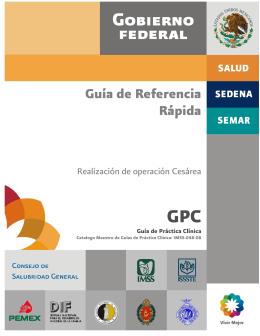 GPC Guía de Referencia Rápida Realización de operación Cesárea