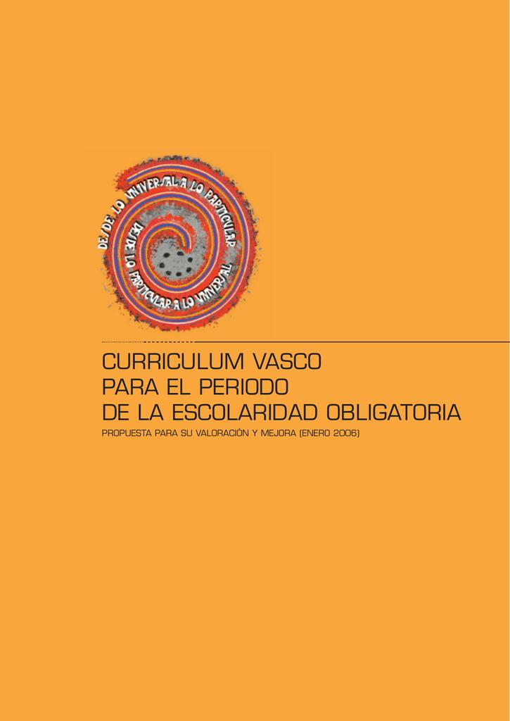 Curriculum Vasco Para El Periodo De La Escolaridad Obligatoria
