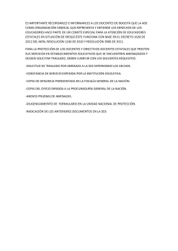 >> Documento pronunciamiento ADE