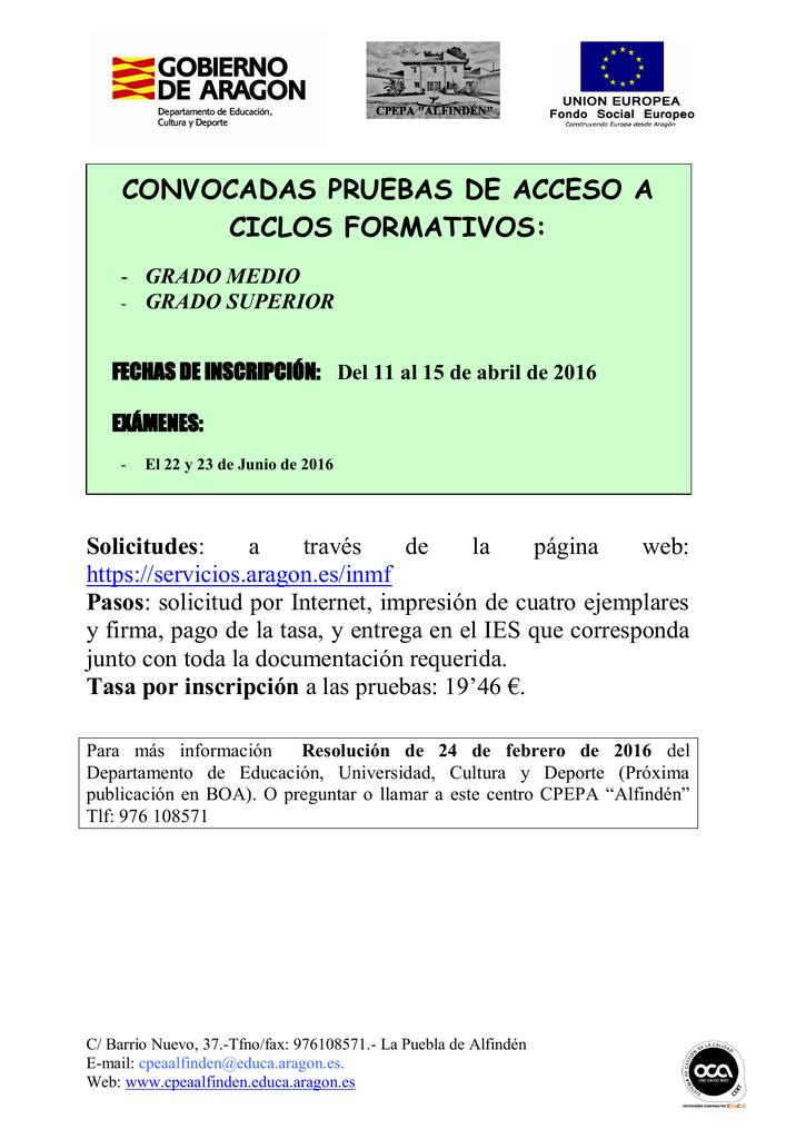 Descargar Este Archivo Pruebas De Acceso 2016 Pdf