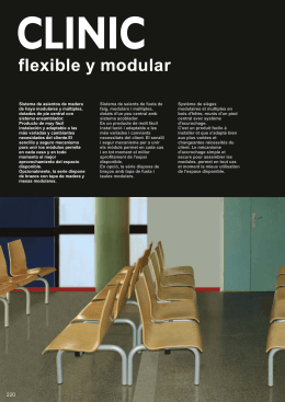 CLINIC flexible y modular  flexible and modular