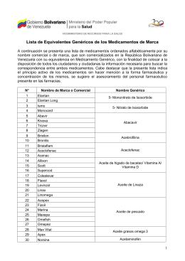 medicamentos Genéricos / compatibilidad con marca