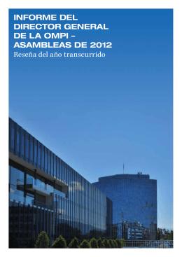 Informe del dIrector General de la omPI – asambleas de 2012