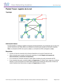 Packet Tracer: registro de la red (instrucciones)