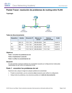 Packet Tracer: resolución de problemas de routing entre VLAN (instrucciones)