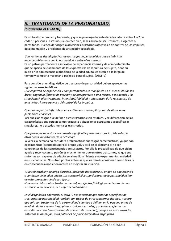 Trastorno Limite De La Personalidad Dsm 5 Pdf Indice Del Dsm Iv Manual De Diagnóstico