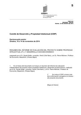 S Comité de Desarrollo y Propiedad Intelectual (CDIP)