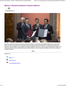 MEX PAN conclude fta negotiations s