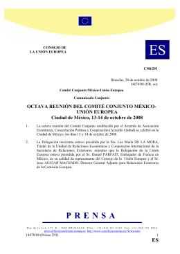 Comit Conjunto UE-M xico - VIII Reuni n