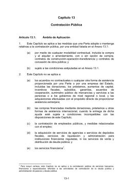 Capítulo 13  Contratación Pública