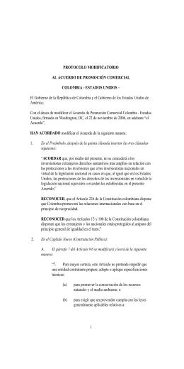 Protocolo Modificatorio al Acuerdo de Promoci n Comercial Colombia-Estados Unidos