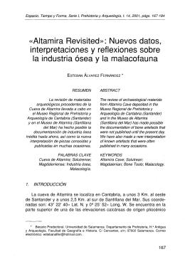 «Altamira Revisited»: Nuevos datos, interpretaciones y reflexiones sobre
