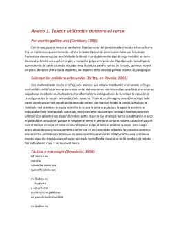 Anexo 1. Textos utilizados durante el curso