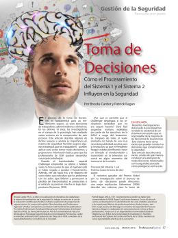 Toma de Decisiones Por Brooks Carder y Patrick Ragan