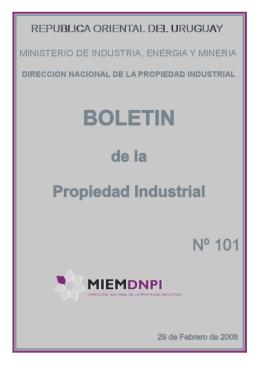 Boletin de la propiedad industrial N° 101