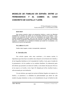 MODELOS DE FAMILIAS EN ESPAÑA: ENTRE LA