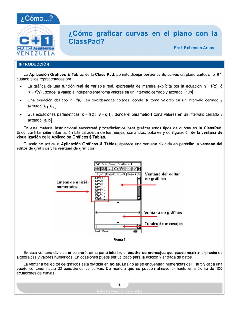 Cómo graficar curvas en el plano con la ClassPad?