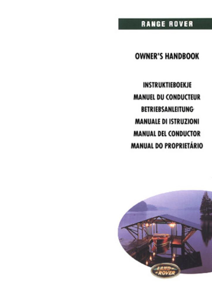 Range Rover P38 My98 - Manual Del Conductor.pdf