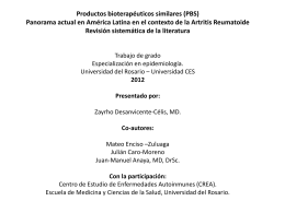 Productos bioterapéuticos similares (PBS)