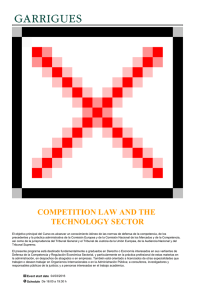 COMPETITION LAW AND THE TECHNOLOGY SECTOR