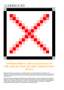ENFORCEMENT AND CHALLENGES IN THE APPLICATION OF THE COMPETITION RULES