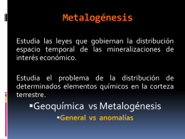 1Procesos metalogenicos fundamentales