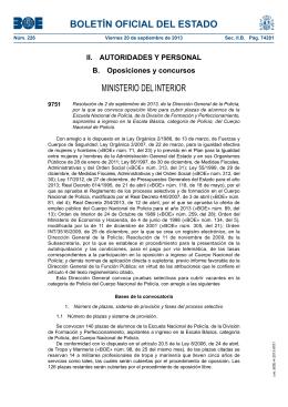 bolet n oficial del estado ministerio del interior iii