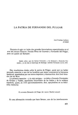 LA PATRIA DE FERNANDO DEL PULGAR