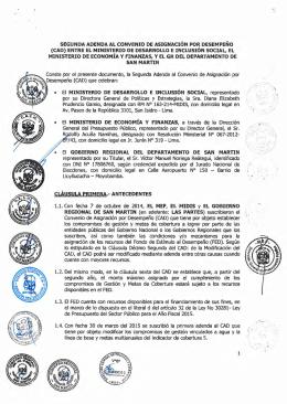 SEGUNDA ADENDA AL CONVENIO DE ASIGNACIÓN  POR DESEMPEÑO