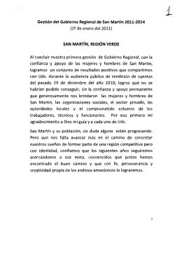 Discurso del Presidente Regional en Juramentaci n - Enero 2011
