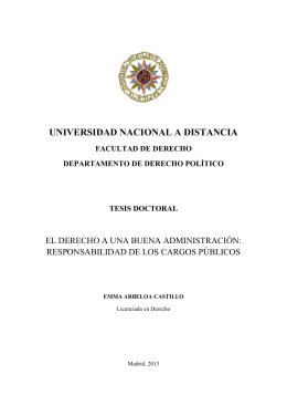 UNIVERSIDAD NACIONAL A DISTANCIA  EL DERECHO A UNA BUENA ADMINISTRACIÓN:
