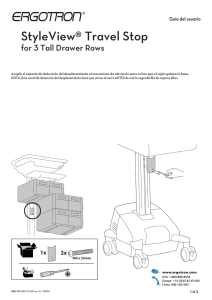 StyleView® Travel Stop for 3 Tall Drawer Rows Guía del usuario