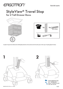 StyleView® Travel Stop for 2 Tall Drawer Rows 1x