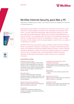 Descargar ficha t cnica McAfee Internet Security for Mac