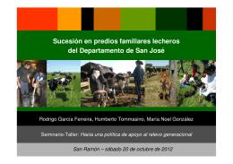Presentación de Tommasino, García y González. Sucesión en predios familiares del departamento de San José